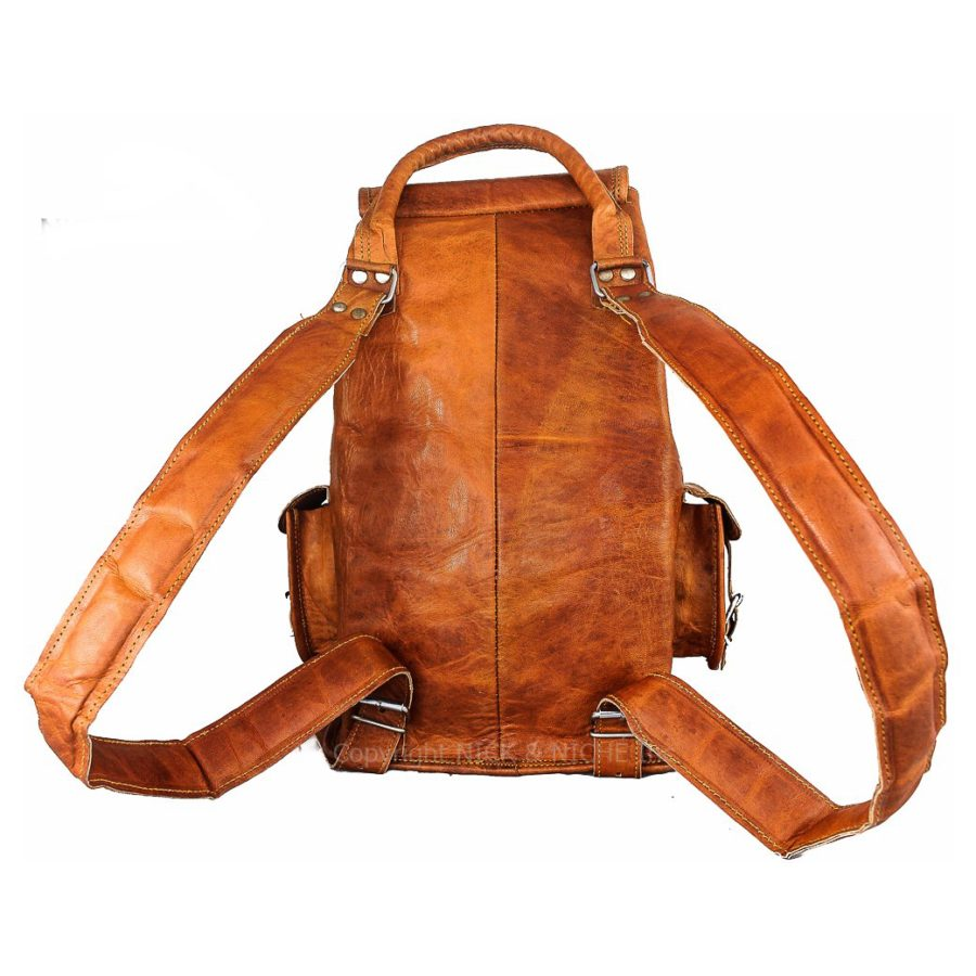 Vintage Genuine Leather Travel Bag backpack - NICK   NICHÉ 29a1a7028a916