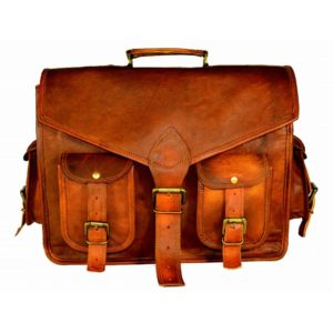 NICK & NICHE Leather Laptop Office Messenger Bag